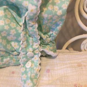 Lime Green Swim - Girls 4T Flower bathing suit